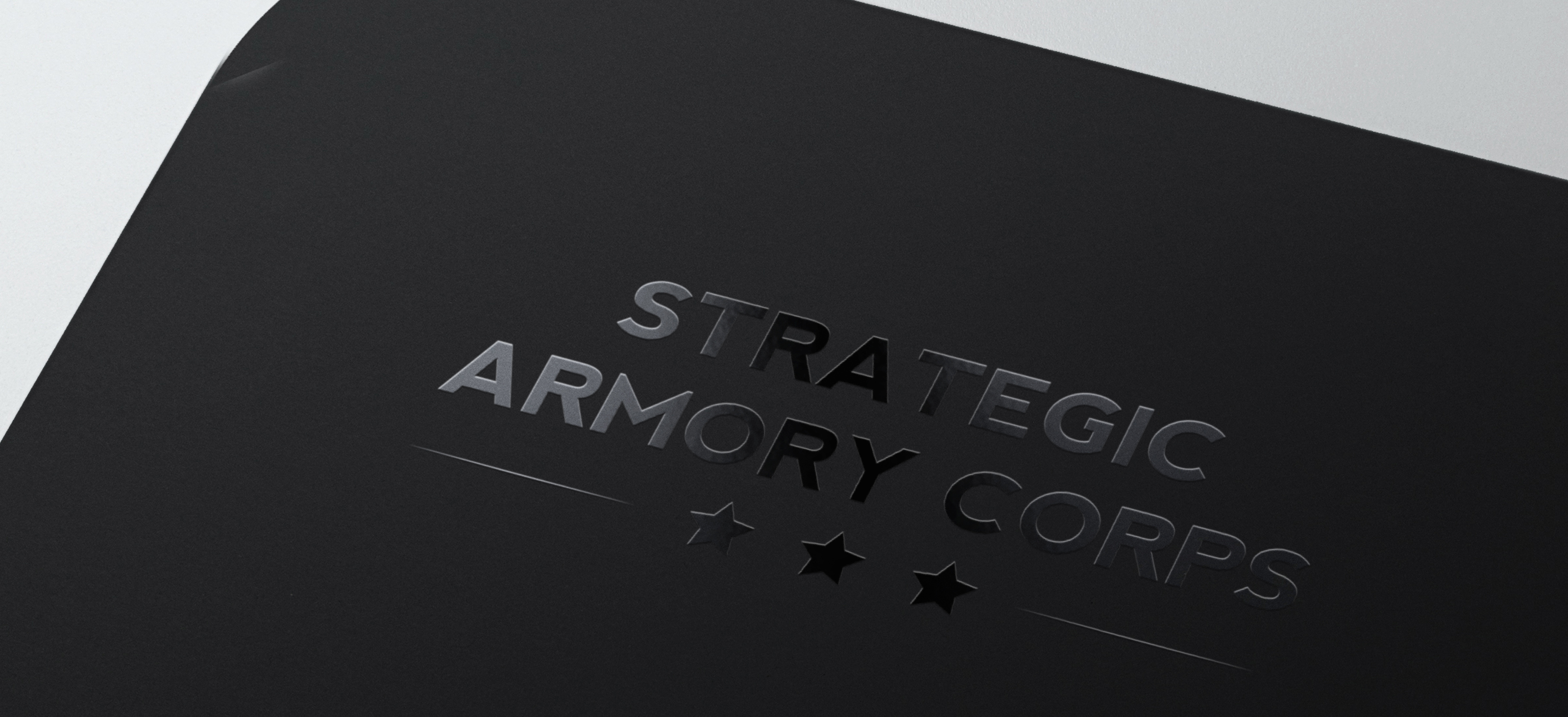 Strategic Armory Corps spot uv