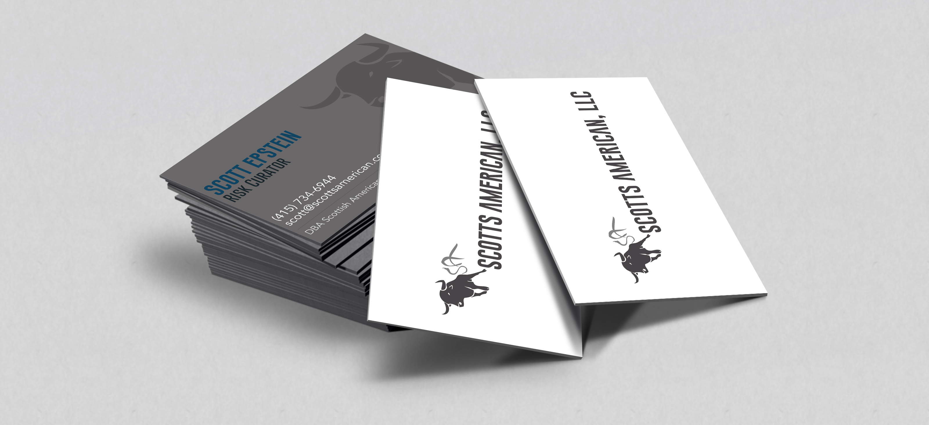 SCOTTS AMERICAN business cards