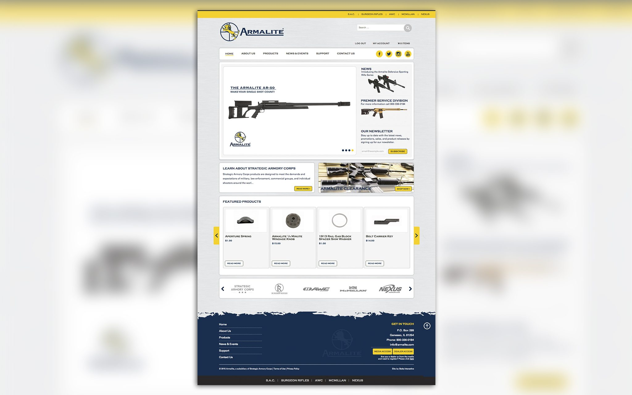 armalite homepage redesign