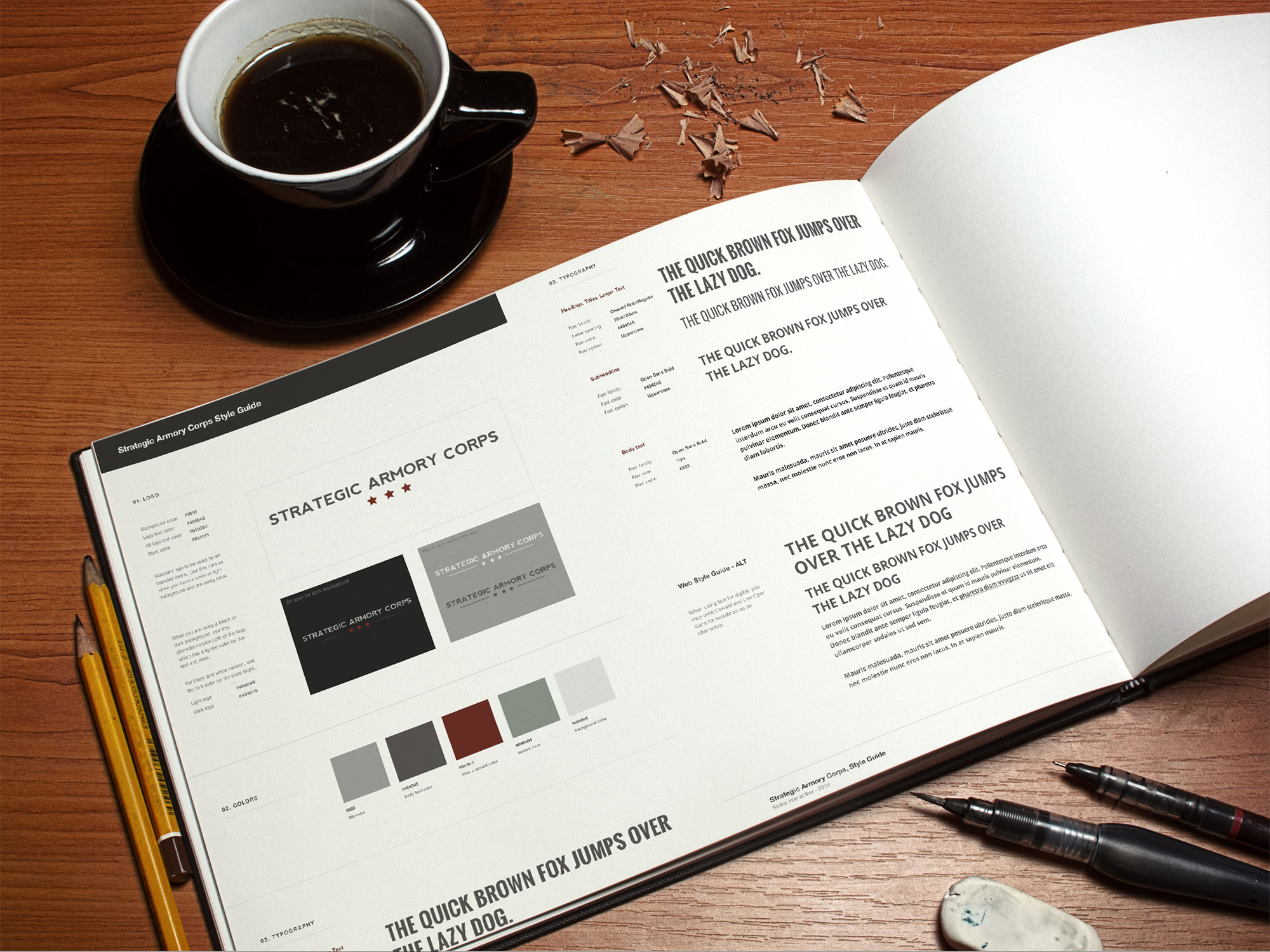 Strategic Armory Corps style guide